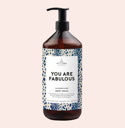 The Gift Label Body Wash: You Are Fabulous - Sisi & Seb