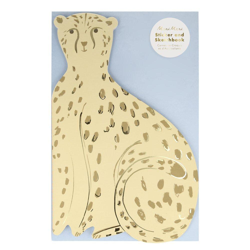 Meri Meri Cheetah Sticker & Sketchbook - Sisi & Seb