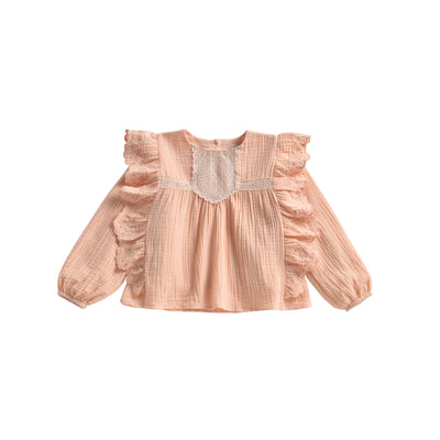 Louise misha girls blouse Lisa blush front detail
