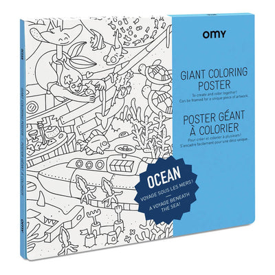 OMY Giant Colouring Poster: ocean