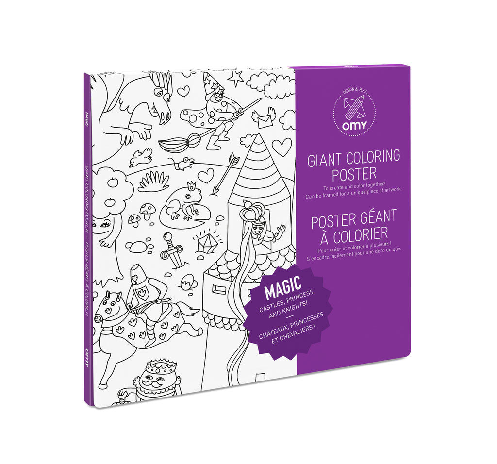 OMY Giant Colouring Poster: Magic - Sisi & Seb