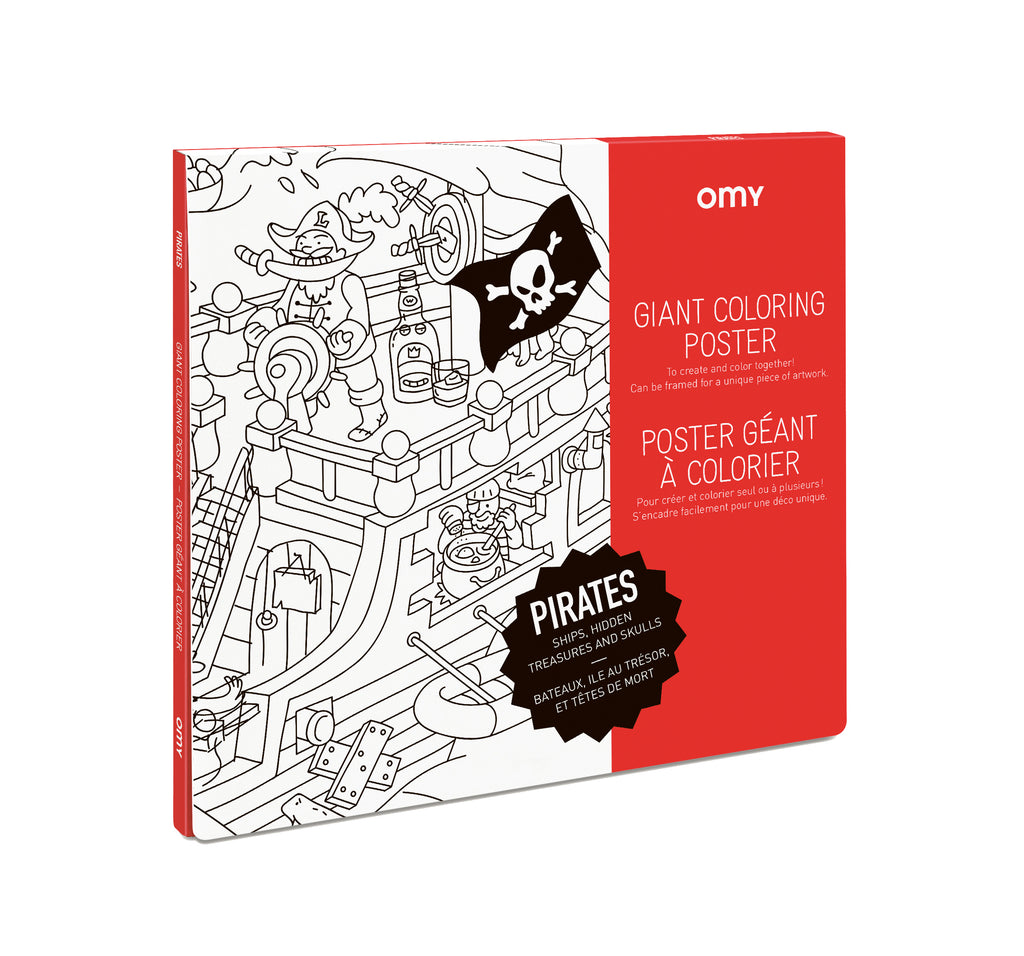 OMY Giant Colouring Poster: Pirates - Sisi & Seb