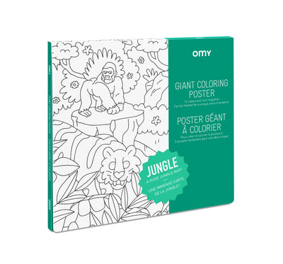 OMY Giant Colouring Poster: Jungle - Sisi & Seb