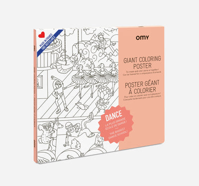 OMY Giant Colouring Poster: Dance - Sisi & Seb