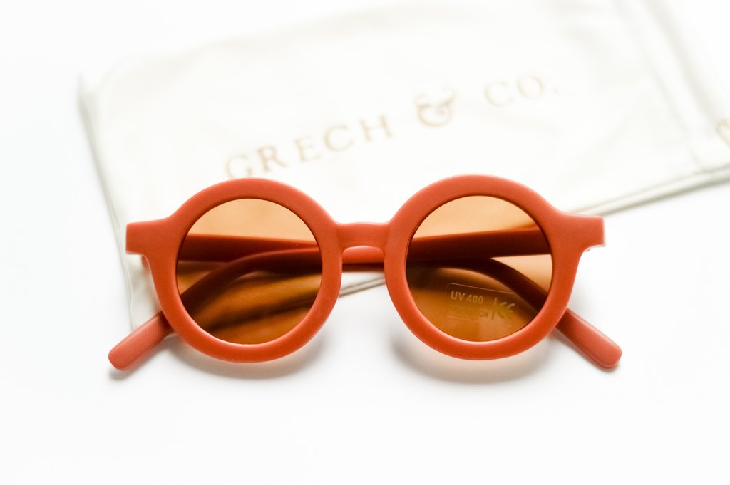 Grech & Co. Sustainable Kids Sunglasses: Rust (matte)
