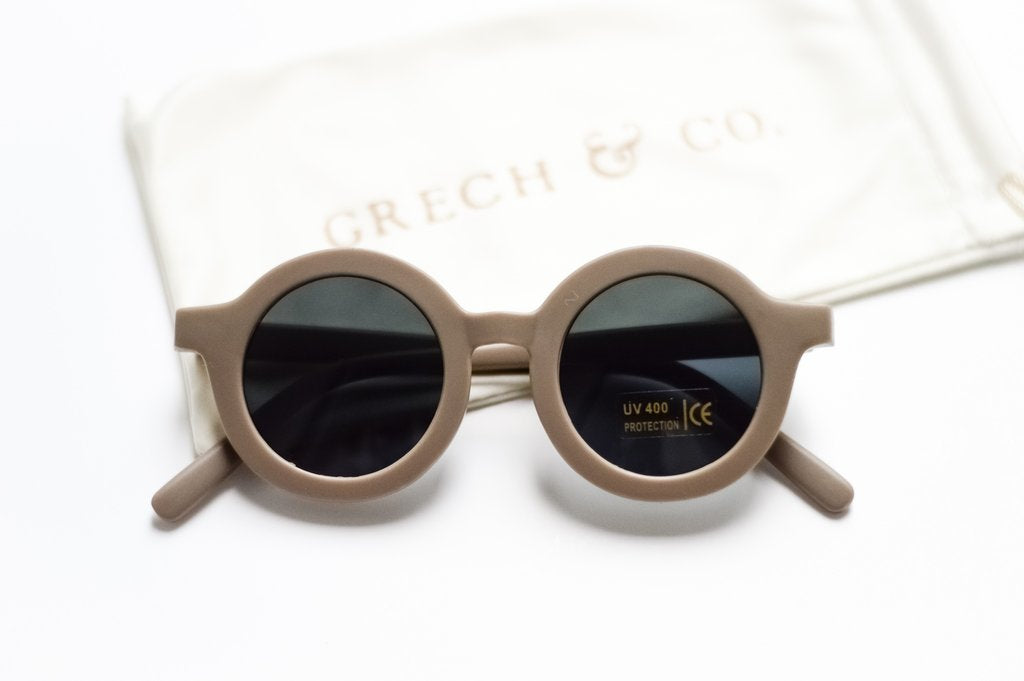 Grech & Co. Sustainable Kids Sunglasses: Stone (matte)