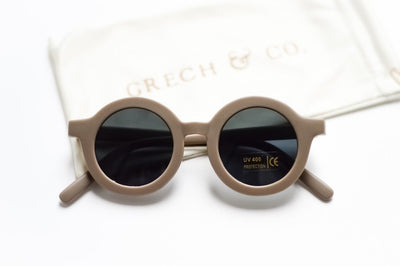 Grech & Co. Sustainable Kids Sunglasses: Stone (matte) - Sisi & Seb