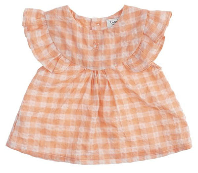 Tocoto Vintage Baby Checkered Blouse