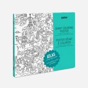 OMY Giant Colouring Poster: Atlas - Sisi & Seb