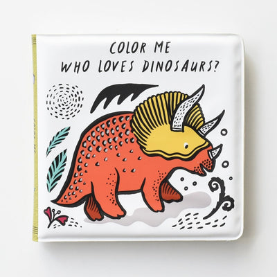 wee gallery bath book dinosaurs