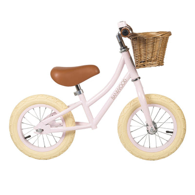 banwood first go pink toddler push bike