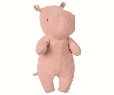 Maileg Safari Friends - Small Hippo (Dusty Rose)