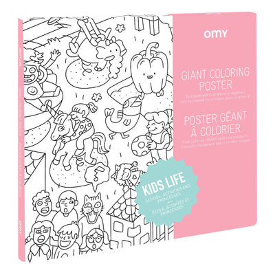 OMY Giant Colouring Poster: Kids Life - Sisi & Seb