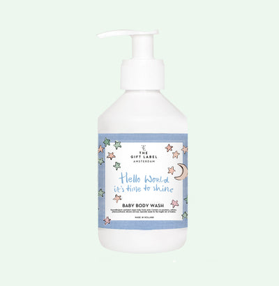 The Gift Label Baby Body Wash: Hello World, It's Time To Shine - Sisi & Seb