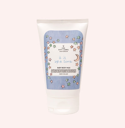 The Gift Label Baby Body Milk: It Is Spa Time - Sisi & Seb
