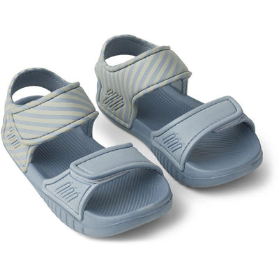 liewood blumer sandals stripe sea-blue-sandy