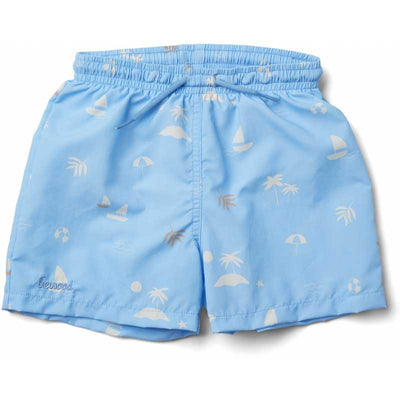 Liewood 'Duke' Board Shorts: Seaside Sky Blue