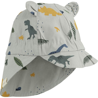 liewood gorm sun hat dino-dove-blue-mix