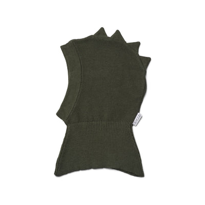 liewood dino balaclava hunter green