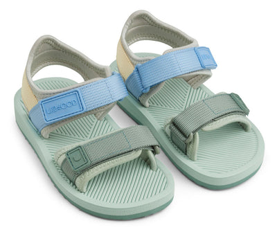 Liewood 'Monty' Sandals: Dusty Mint