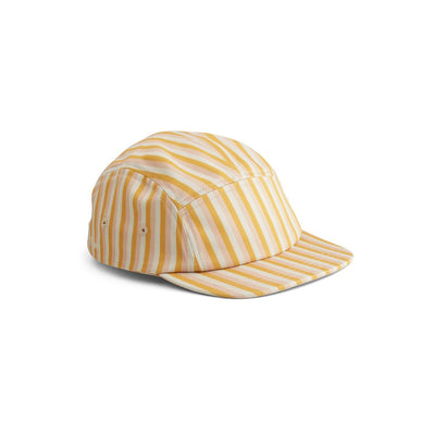 liewood rory cap stripe peach/sandy/yellow mellow
