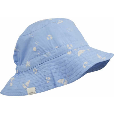 Liewood 'Sander' Bucket Hat: Seaside Sky Blue