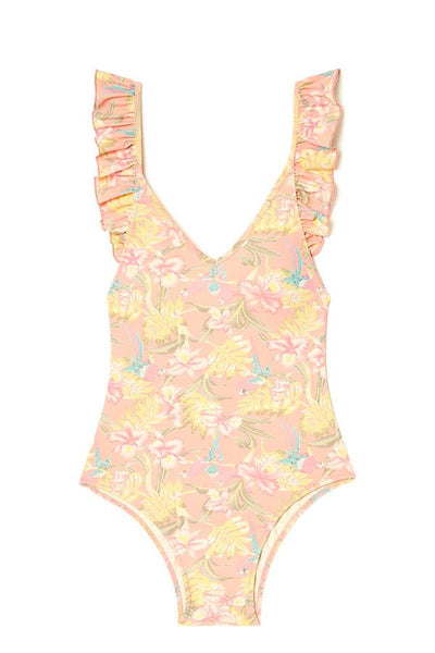 louise misha womens bathing suit reva sienna parrots