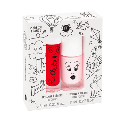 Nailmatic Nail Polish Duo: Kids Cottage Cherry/Bella