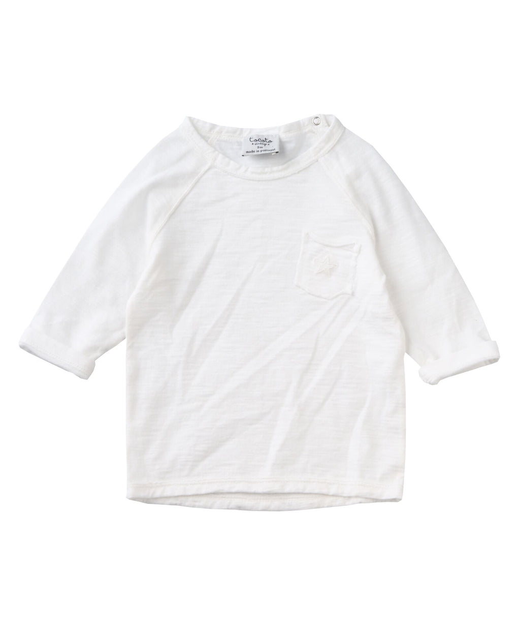 Tocoto Vintage Unisex Baby Pocket Star Embroidered Long Sleeve T-Shirt - Sisi & Seb