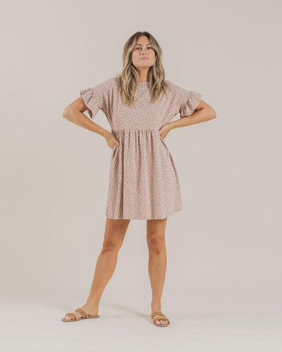 Rylee + Cru Womens Ditsy Babydoll Dress: Terracotta | Rylee + Cru at Sisi & Seb