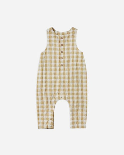 Rylee + Cru Gingham Button Jumpsuit: Butter | Rylee + Cru at Sisi & Seb