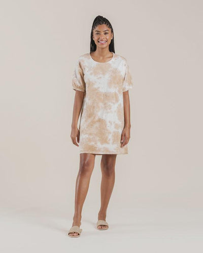 Rylee + Cru Womens Tie Dye Shirt Dress: Almond | Rylee + Cru at Sisi & Seb