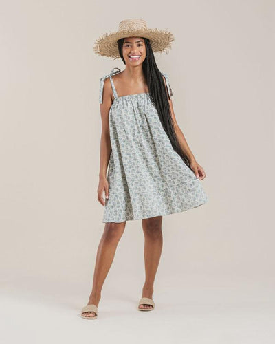 Rylee + Cru Womens Roses Shoulder Tie Dress: Ivory | Rylee + Cru at Sisi & Seb