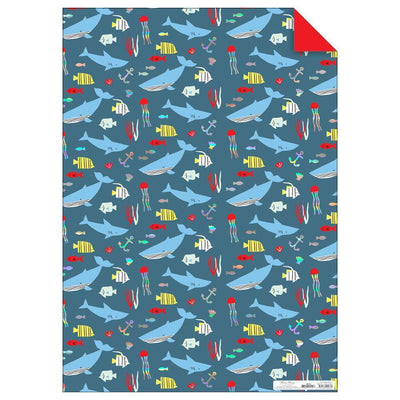Meri Meri Gift Wrapping Roll: Under The Sea - Sisi & Seb