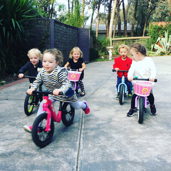How to make driveway bike riding more fun for kids