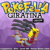 ultra square shiny Giratina (Origin Forme) • Competitive • 6IVs • Level 100 • Online Battle-Ready