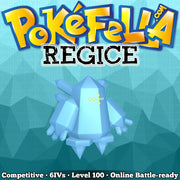 Regice • Competitive • 6IVs • Level 100 • Online Battle-Ready