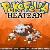 ultra square shiny Heatran • Competitive • 6IVs • Level 100 • Online Battle-Ready