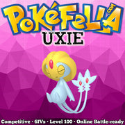 ultra square shiny Uxie • Competitive • 6IVs • Level 100 • Online Battle-Ready