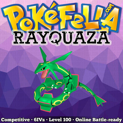 Rayquaza • Competitive • 6IVs • Level 100 • Online Battle-Ready