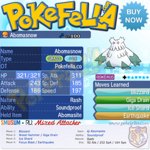 Mega Abomasnow • Smogon RU: Mixed Attacker • Battle-Ready, 6IVS, Shiny, Customizable
