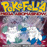 Mega Abomasnow • Smogon UU: Mixed Attacker • Battle-Ready, 6IVS, Shiny, Customizable