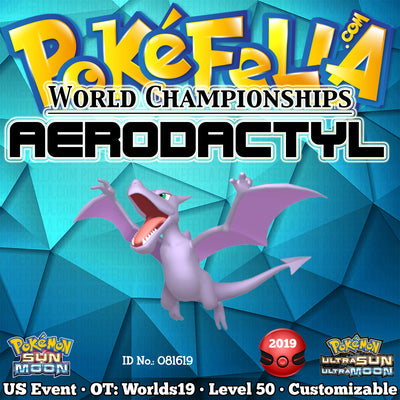 2019 World Championships Aerodactyl • OT: Worlds19 • ID No. 081619 • North America 2019 Event