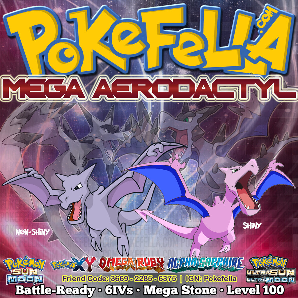 aerodactyl mega battle ready 6ivs level 100 pokemon sun moon