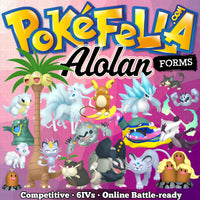 Alolan Forms Bundle • Competitive • 6IVs • Level 100 • Online Battle-ready
