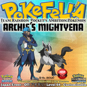 Pokémon Center/Store - Archie's Mightyena Distribution • OT: アオギリ • ID No. 180120 • Team Rainbow Rocket's Ambition Pokémon - Japan 2018 Event