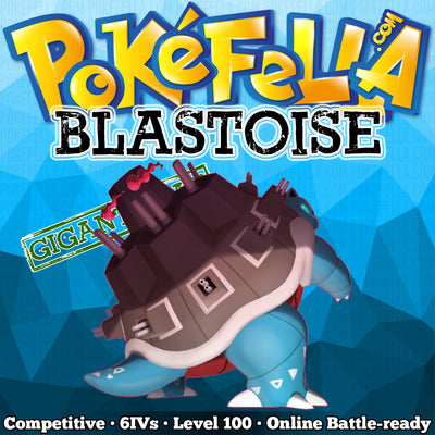 ultra square shiny Gigantamax Blastoise • Competitive • 6IVs • Level 100 • Online Battle-ready