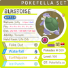 ultra square shiny Blastoise • Competitive • 6IVs • Level 100 • Online Battle-ready