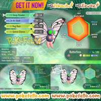 Butterfree • Battle-ready • Max IVs/AVs • Level 100 • Shiny/non-shiny • Let's Go, Pikachu! & Eevee!