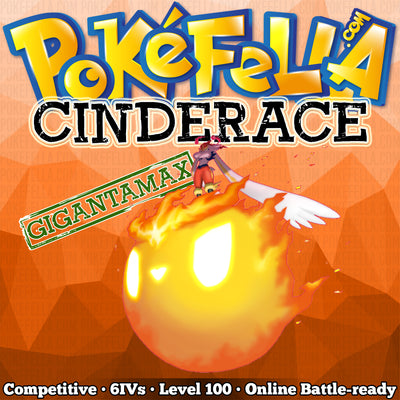ultra star square shiny Gigantamax Cinderace • Competitive • 6IVs • Level 100 • Online Battle-ready